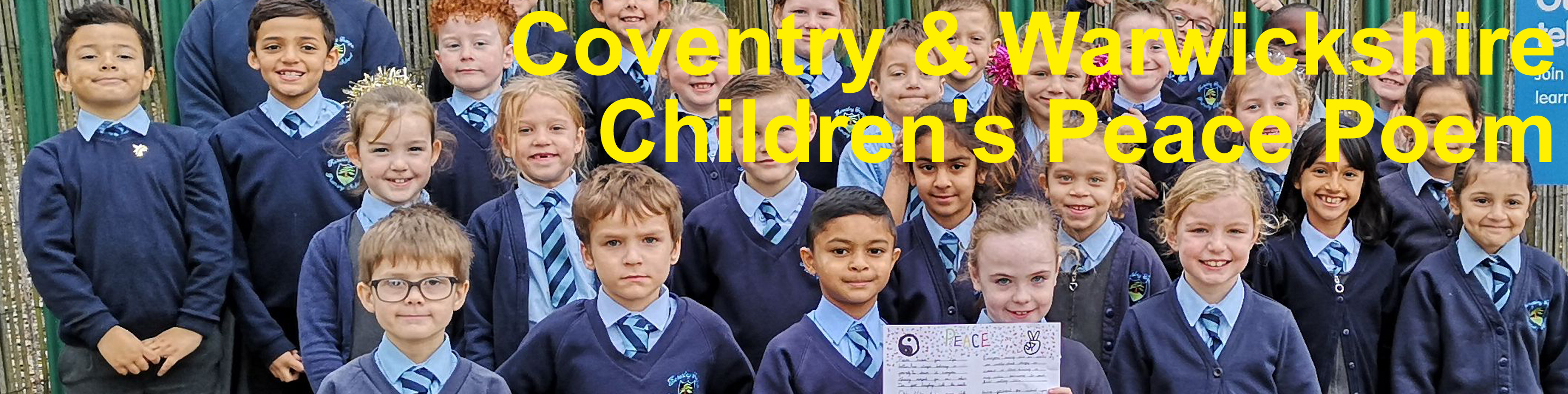 Cov and Warks Childrens Peace Poem